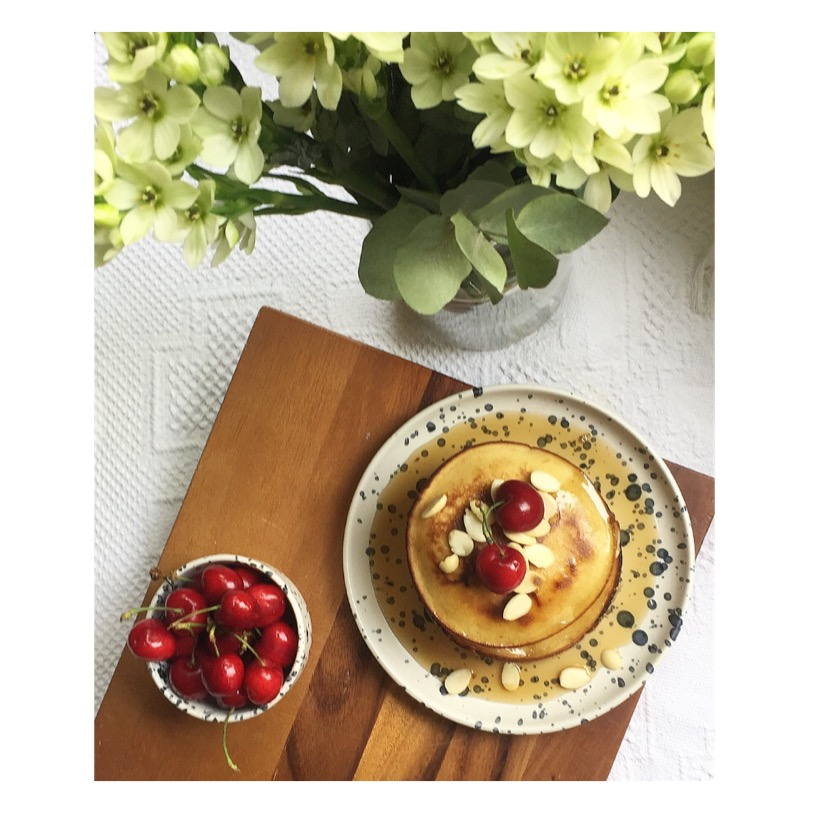 Healthy vegan Breakfast-The Sunday Morning Pancakes